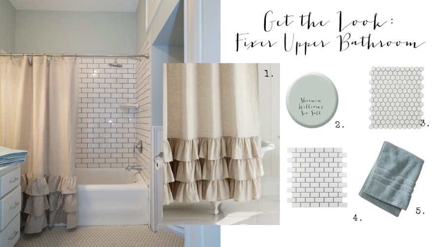 Get the Look: Fixer Upper Bathroom