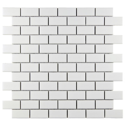 Retro-1-7-8-x-7-8-Porcelain-Glazed-Mosaic-in-Matte-White-WFFXLMSMW