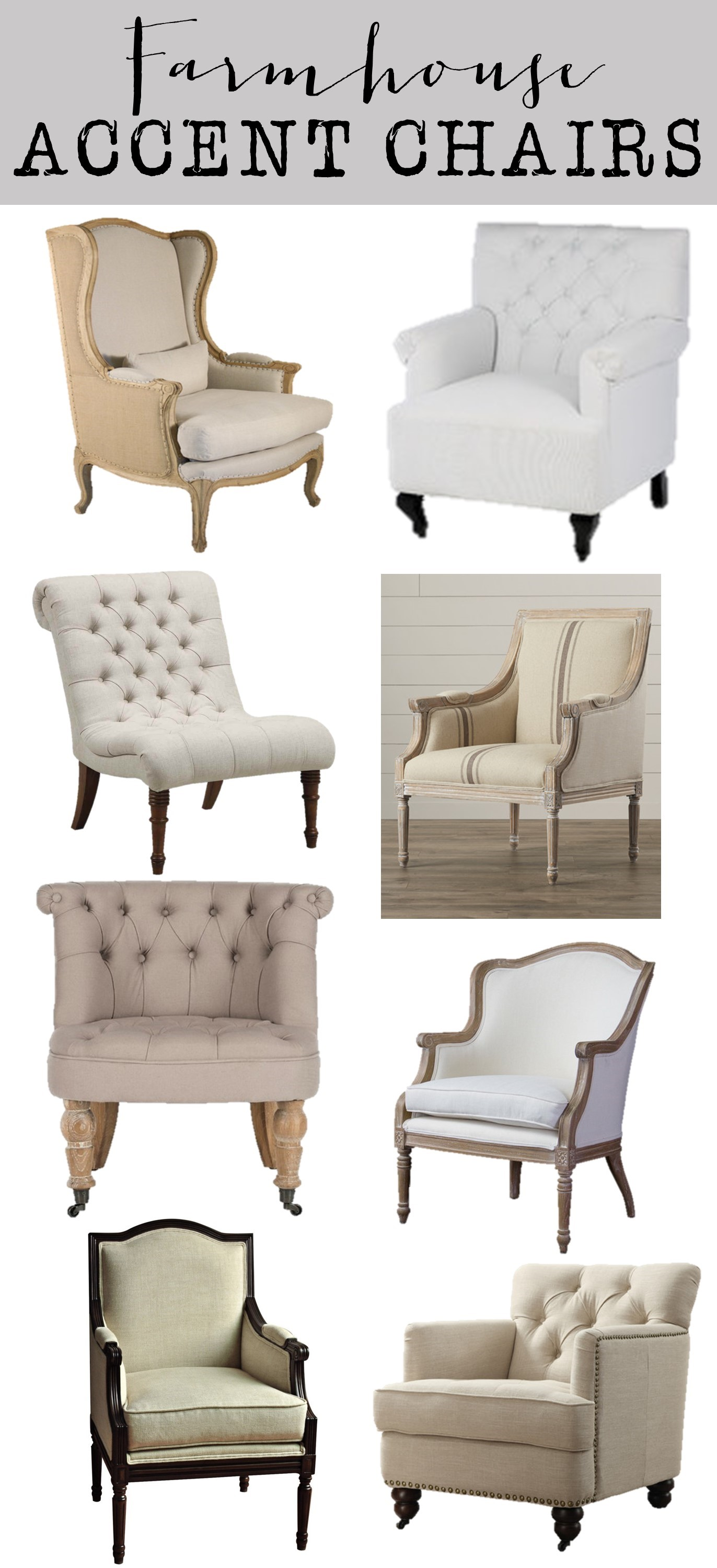 Farmhouse Accent Chairs 6