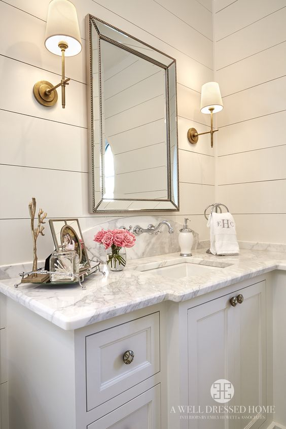 Farmhouse Bathroom Wall Sconces : Farmhouse Bathrooms - House of Hargrove