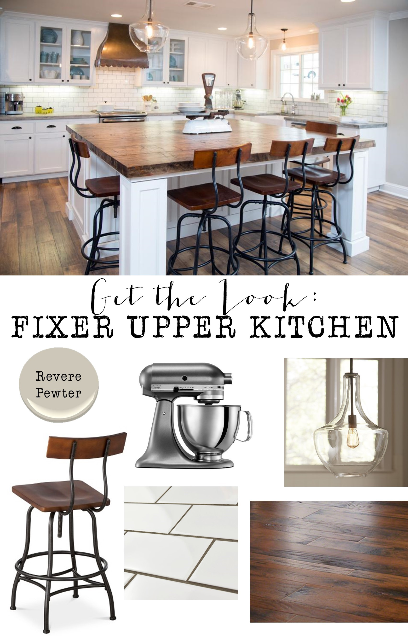 Fixer upper kitchen pendants - Get The Look Fixer Upper Kitchen 6