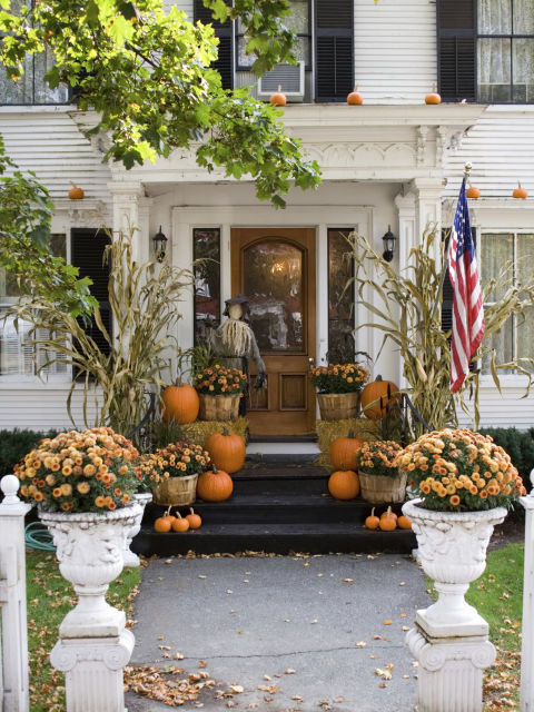 Fall front porches house of hargrove Beautiful fall front porches