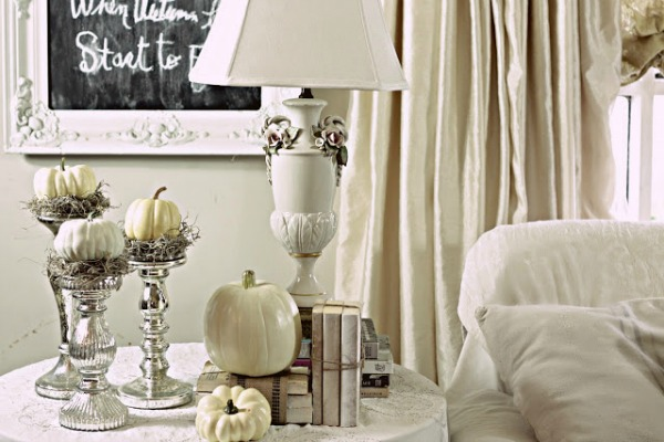 Pumpkins and Candle Sticks, Decorating with Pumpkins