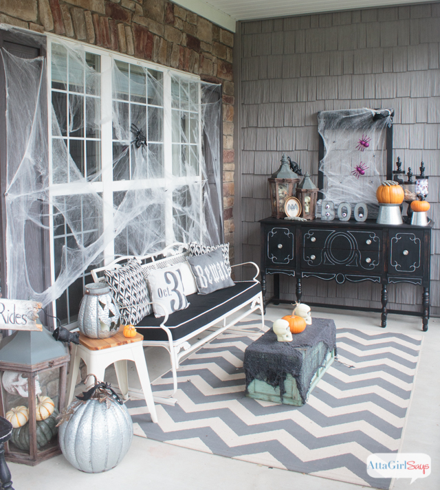 Atta Girl Says, Halloween Front Porch Ideas via House of Hargrove