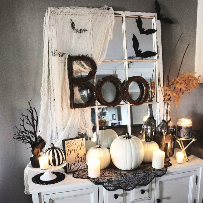 The Glam Farmhouse, Halloween Decor Ideas