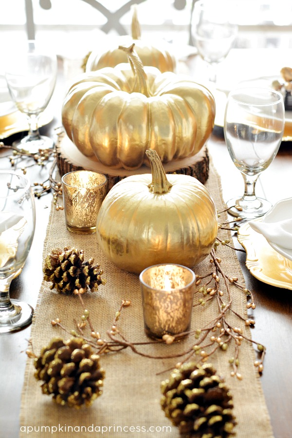 A Pumpkin and a Princess, Thanksgiving Tablescapes via House of Hargrove