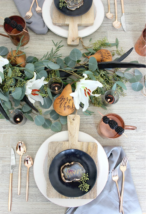 Julep, Thanksgiving Tablescapes via House of Hargrove
