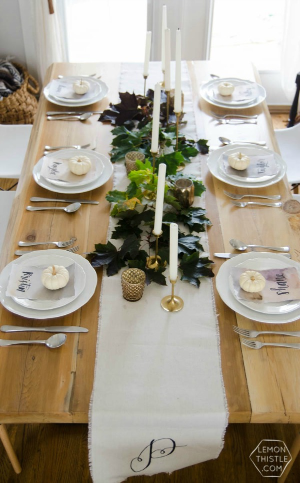 Lemon Thistle, Thanksgiving Tablescapes via House of Hargrove