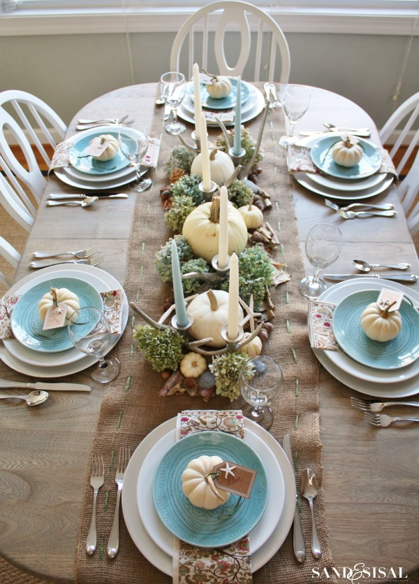 Sand and Sisal, Thanksgiving Tablescapes via House of Hargrove