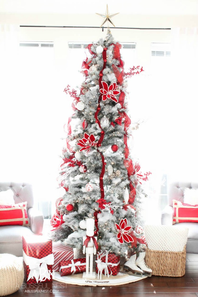A Blissful Nest, Gorgeous Christmas Trees via House of Hargrove