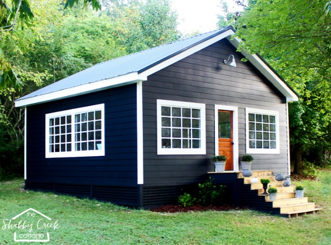 The Shabby Creek Cottage, She Sheds via House of Hargrove
