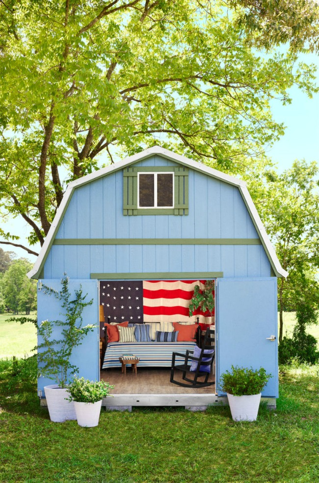 via Country Living, Shed Sheds via House of Hargrove