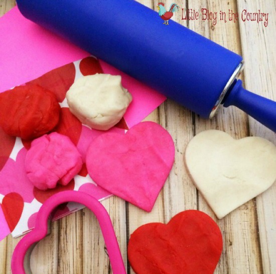 Little Blog in the Country Valenties Day Playdough, 40 Valentines Day Ideas via House of Hargrove
