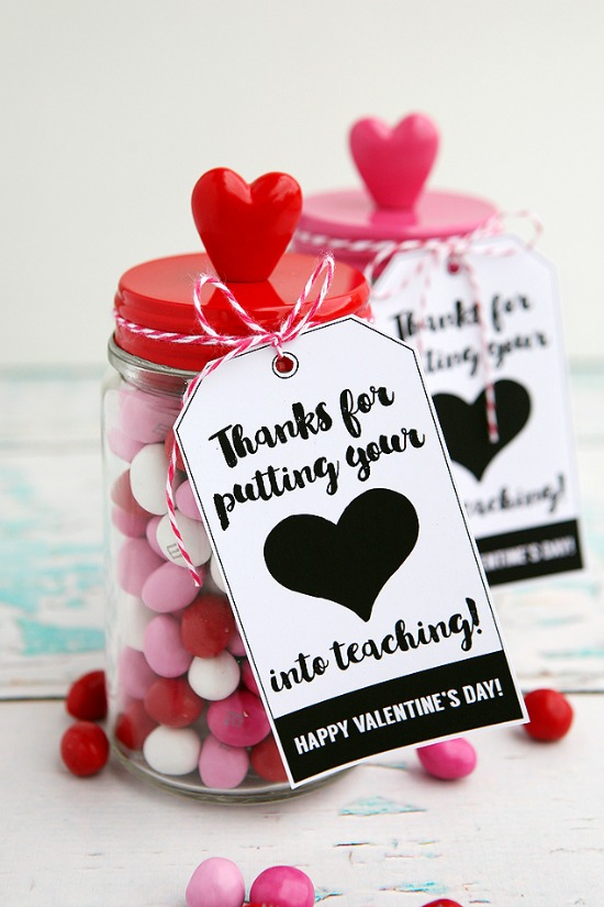 Valentine Teacher Gift by eighteen25, 40 Valentines Day Ideas via House of Hargrove