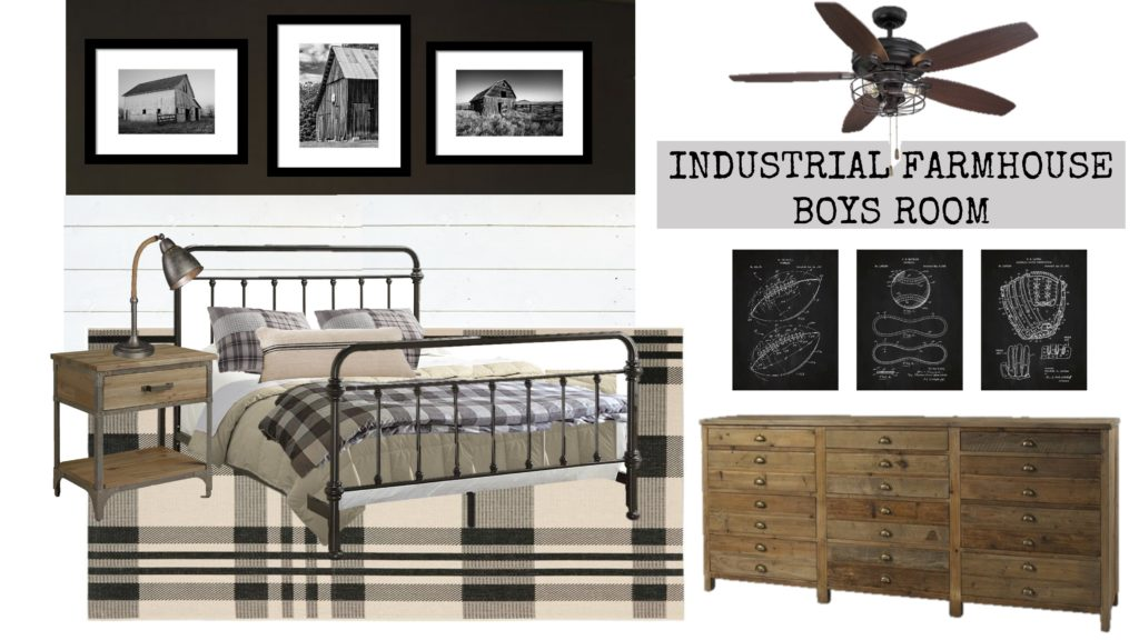 Braden's Industrial Farmhouse Big Boy Room Ideas