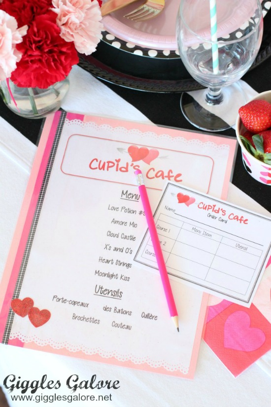 Cupids Cafe Dinner Party by Giggles Galore, 40 Valentines Day Ideas via House of Hargrove