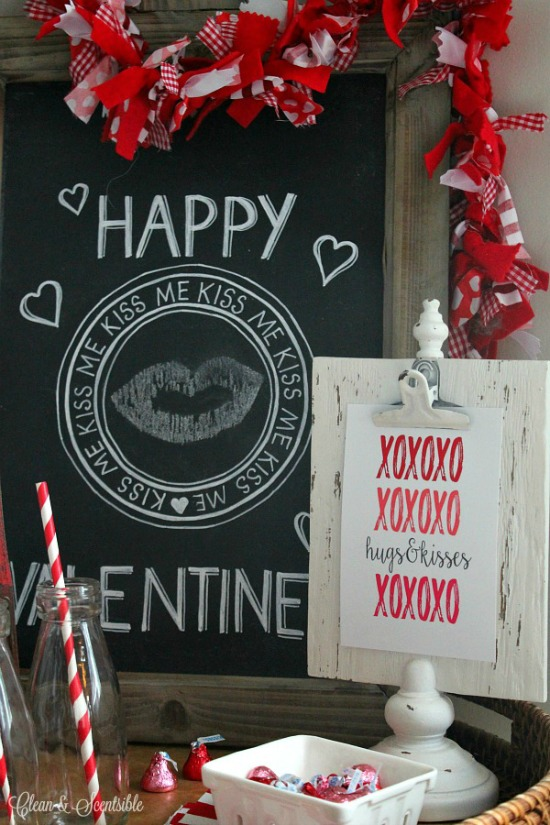 Clean and Scentsible Valentine Printables, 40 Valentines Day Ideas via House of hargrove