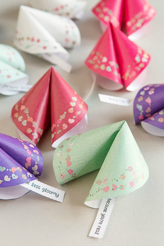 Ever Mine Fortune Cookies Printables, 40 Valentines Day Ideas via House of Hargrove