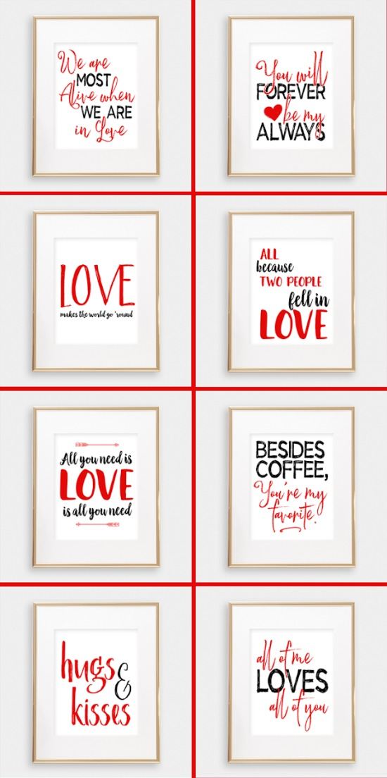 i should be mopping the floor printables, 40 Valentines Day Ideas via House of hargrove
