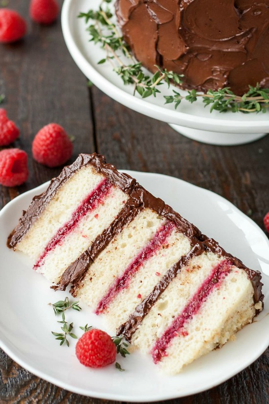 Liv for Cake Chocolate Raspberry Layered Cake, 40 Valentines Day Ideas via House of Hargrove