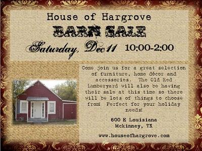 December Barn Sale