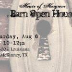 Barn Open House Aug, 6 10-12