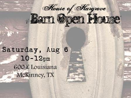 Barn Open House Aug, 6 10-12