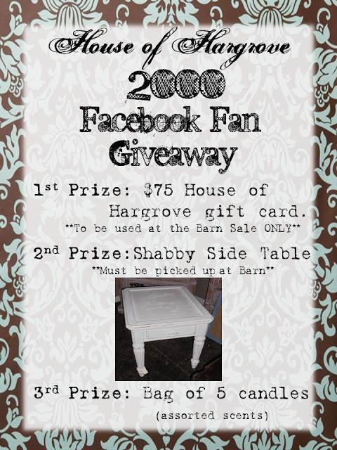 2000 fan giveaway!!