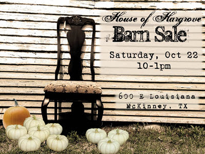 October Barn Sale