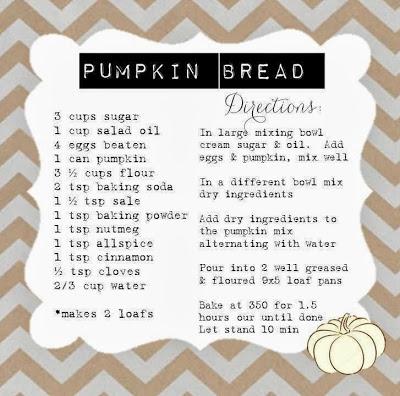 Baking fun…Pumpkin Bread