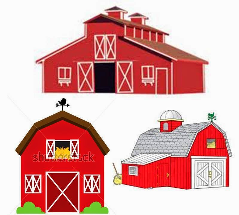 These Are Just Basic Barn Clip Art Images That You Can Find In Google They Were Not The Look I Was Going Fortoo Bright Too Baby And