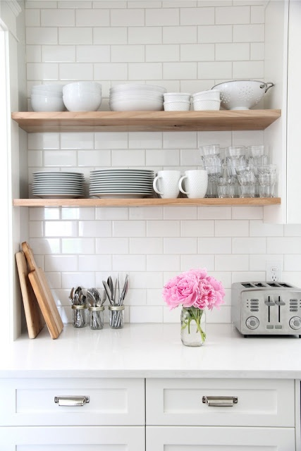 Awesome Here Is Another Classic Example Of Subway Tile In The Kitchen With  White Grout With White Subway Tile Kitchen