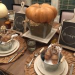 Thanksgiving Tablescape & Free printables (Sponsored by AtHome)