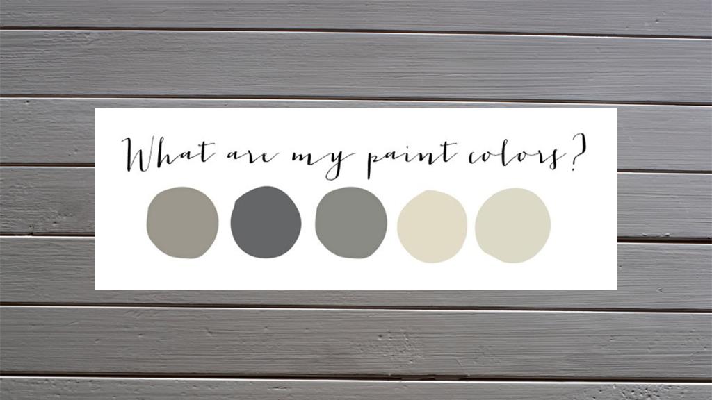 My Paint Colors