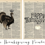 FREE Thanksgiving art prints