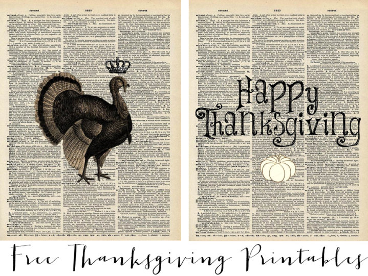 Free Thanksgiving Printables from House of Hargrove