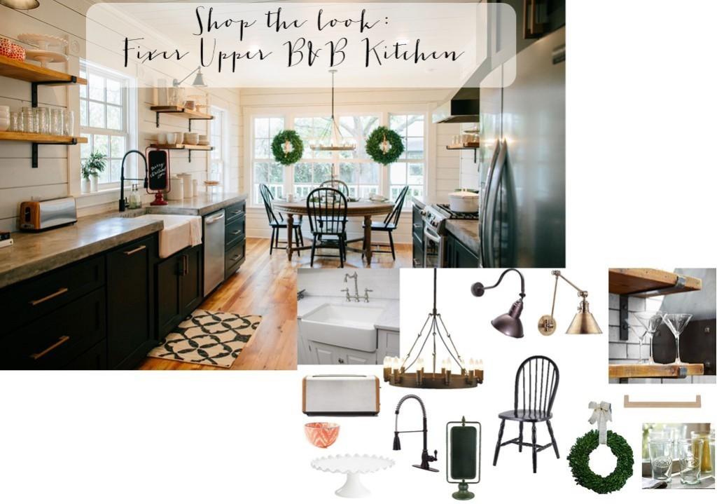Get the look: Fixer Upper B&B Farmhouse Kitchen