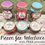 Mason Jar Valentines -Free printables.
