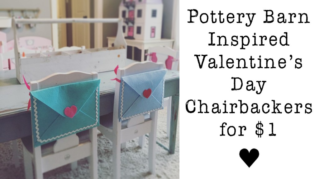 Valentine's Day Chairbacker- Pottery Barn Inspired…only $1