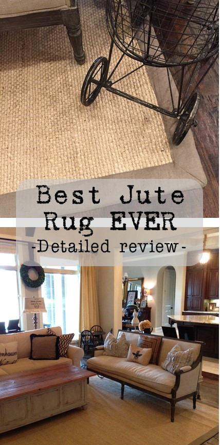 if you liked this jute rug review pin the photo below so you have the information when you are needing a rug