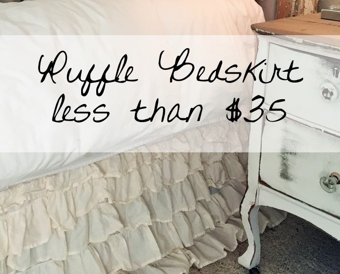 Ruffle Bed skirt – only $35