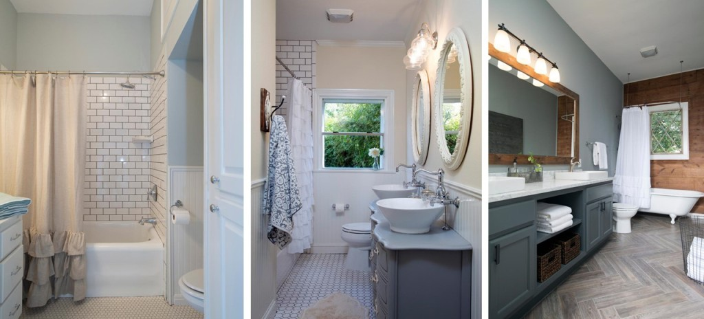 White And Gray Ruffle Shower Curtain