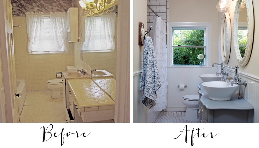 fixer upper bathroom before afters house of hargrove - Fixer Upper Bathroom