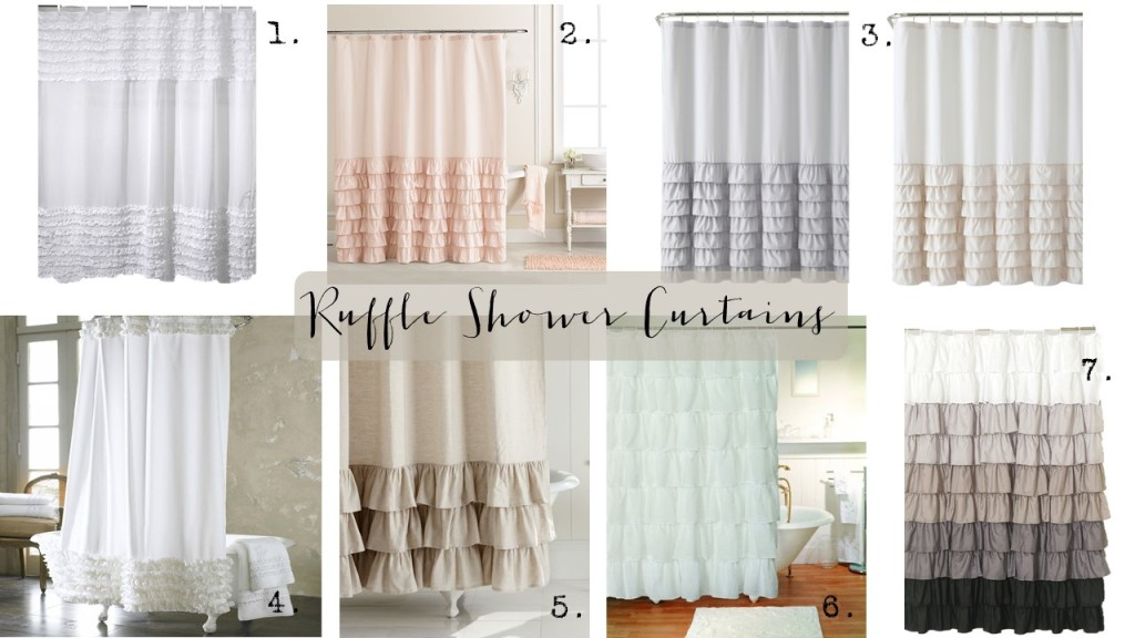 Friday Finds Ruffle Shower Curtains