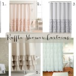 Friday Finds: Ruffle Shower Curtains