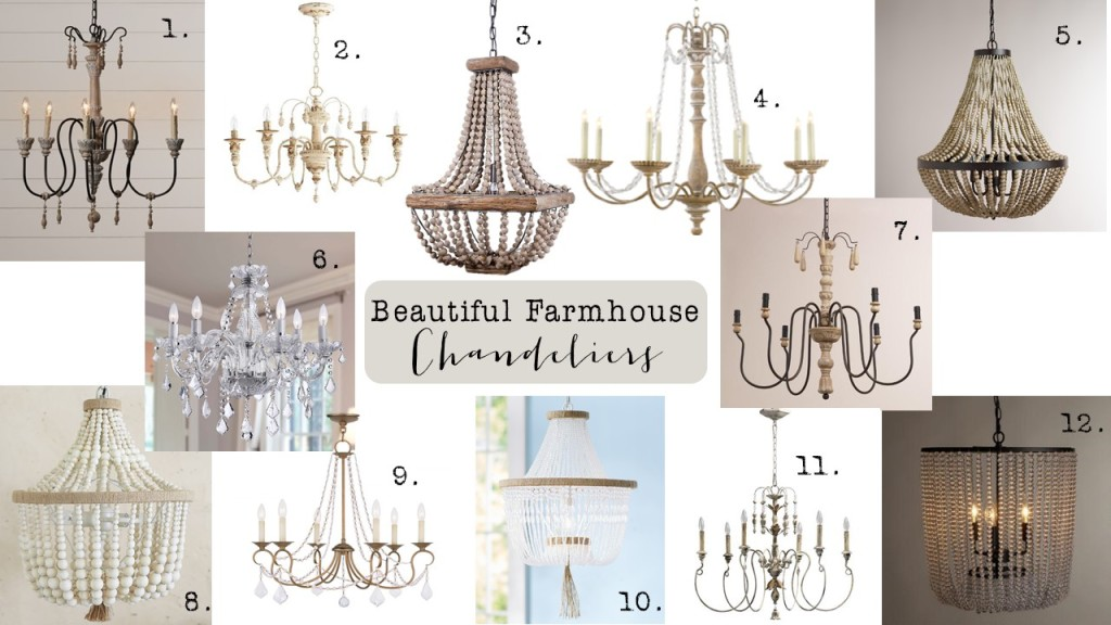 Friday Finds: Farmhouse Chandeliers