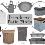 Farmhouse Patio Finds