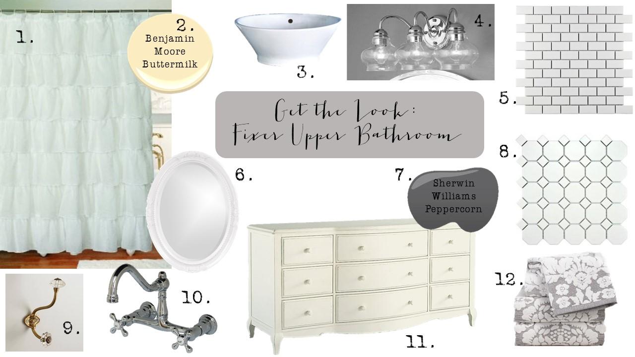 Get the Look Fixer Upper Bathroom Take 2 (1)