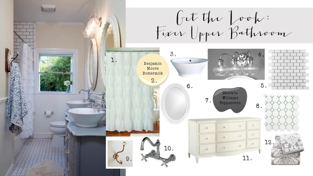 Get the Look: Fixer Upper Bathroom {2nd Edition}