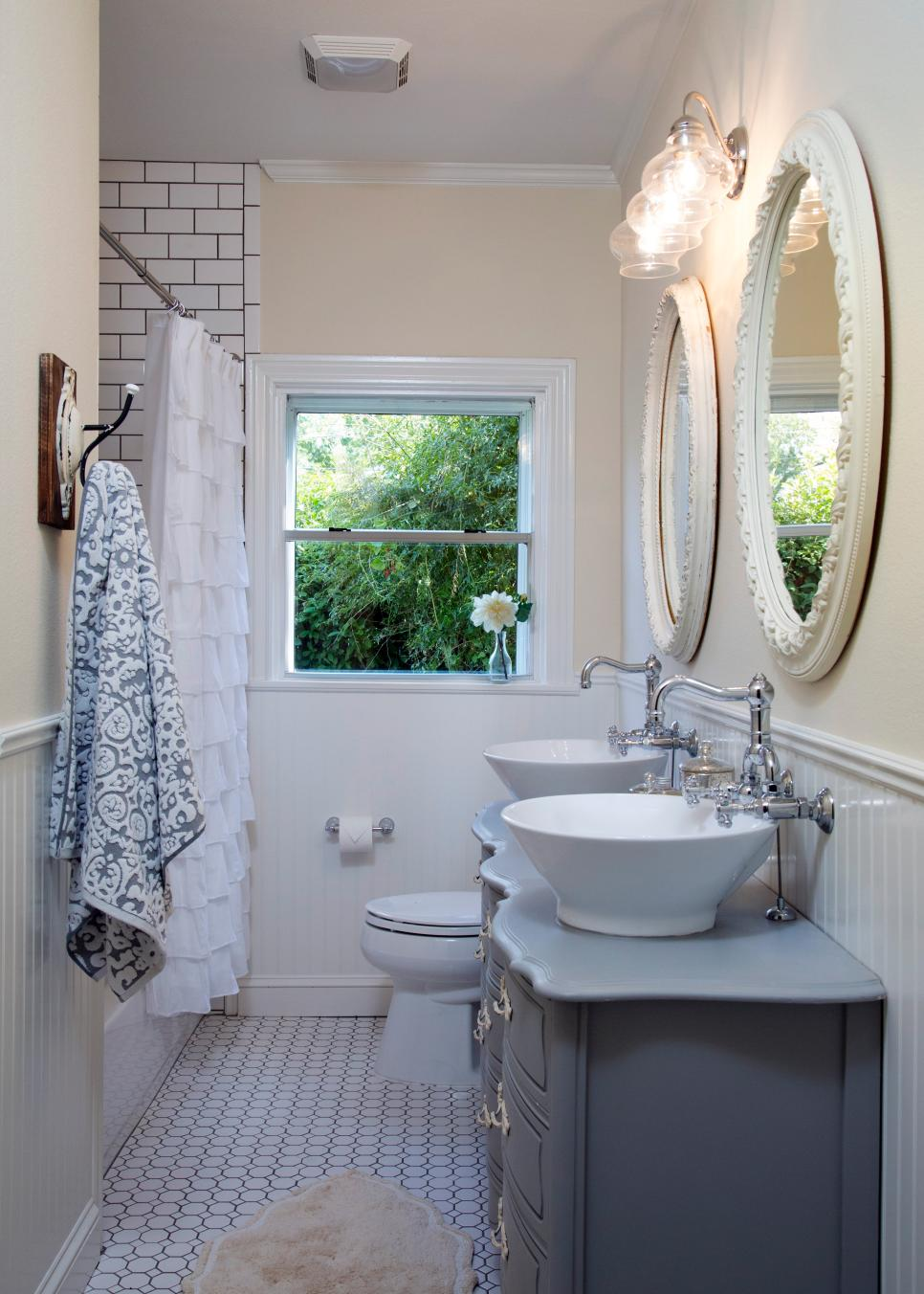 Get the look fixer upper bathroom 2nd edition house - Fixer upper long narrow bathroom ...